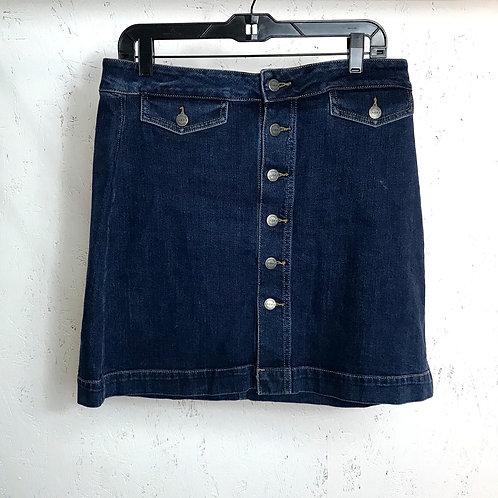 LOFT jean skirt (10)