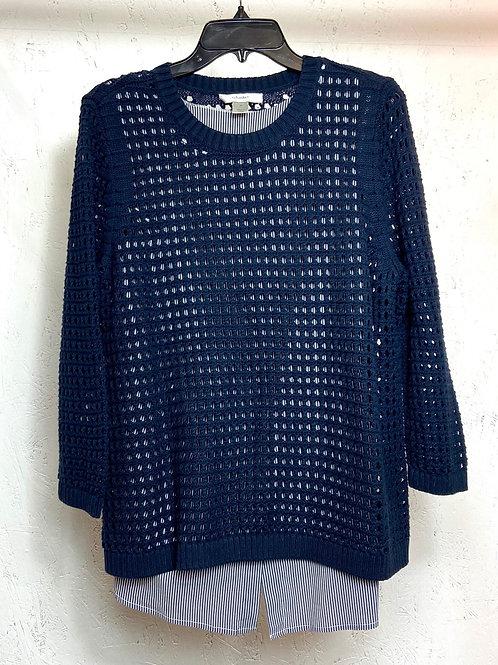 Cj banks navy blue knit