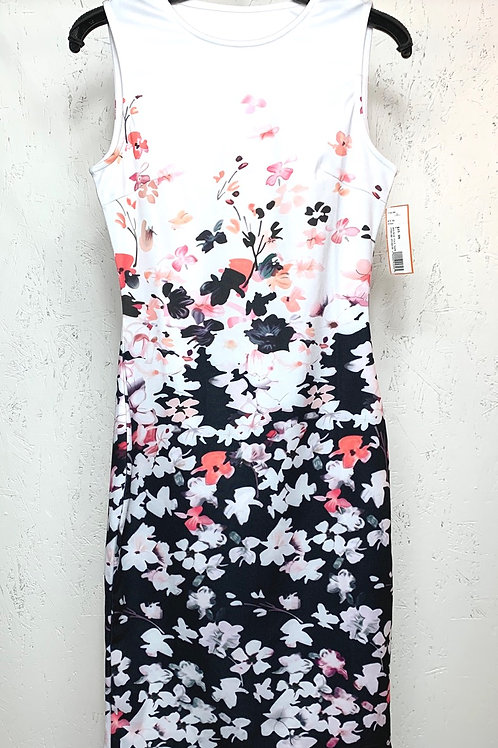 White and Black Floral Dress (S)
