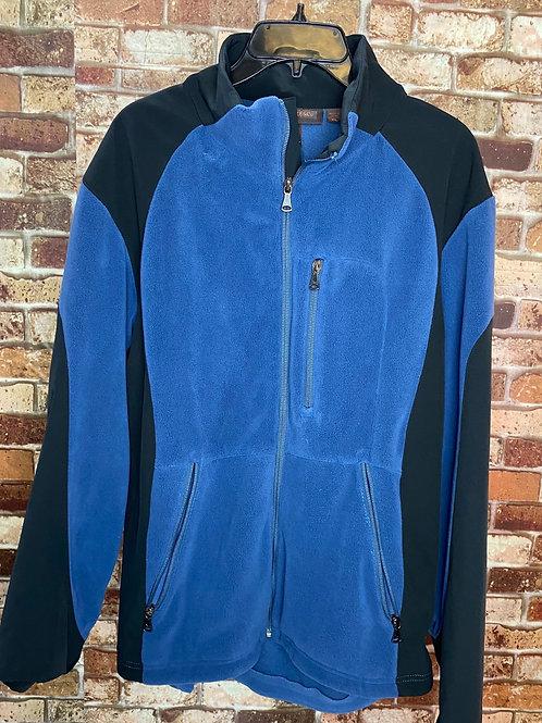 Hawke&Co black/blue fleece zip up jacket