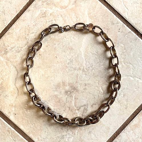 Loft silver chain necklace