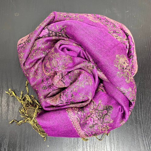 Pashimina Purple Scarf