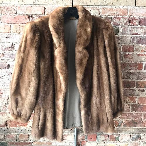 Real Fur Brown Coat