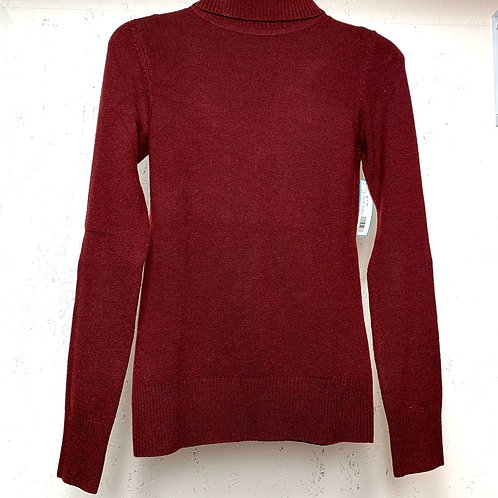 French connection maroon turtle neck