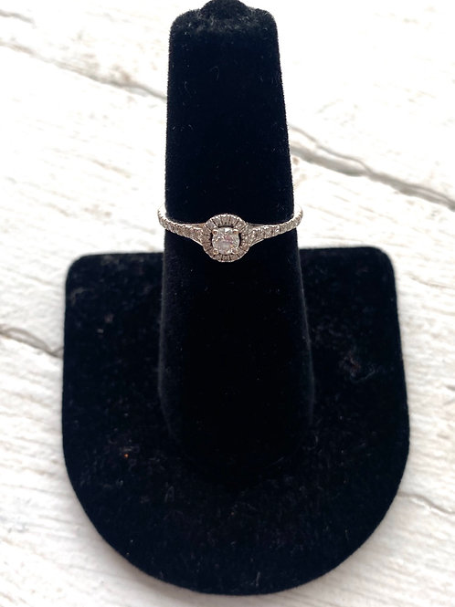 Real silver and diamond ring