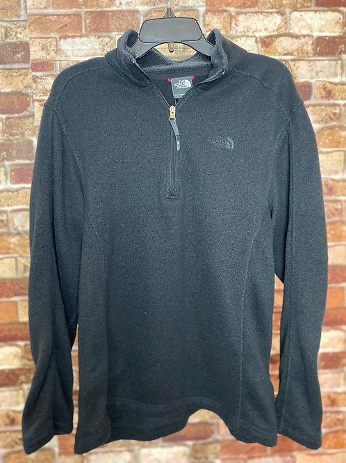 The North Face black half zip pullover