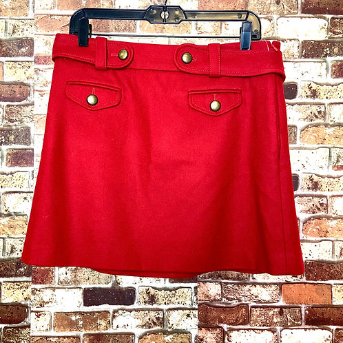 J.Crew red skirt with pockets