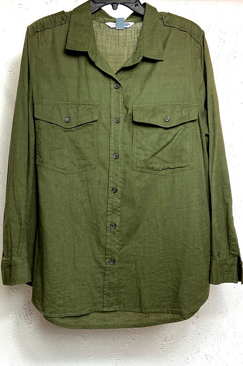 Old Navy green cargo shirt