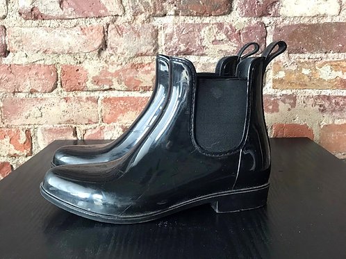 Black Ankle Rubber Boots (9)