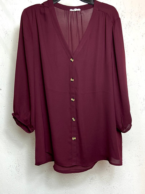 Maurices maroon button down