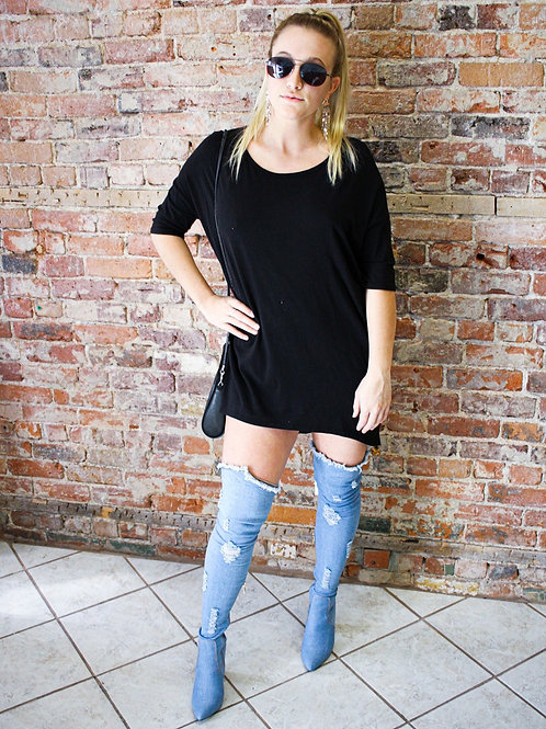 LuLaRoe Black T-shirt Dress