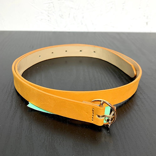 Yellow Leather Belt