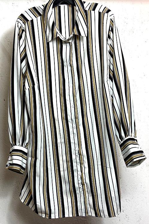 SHEIN black gold white stripes