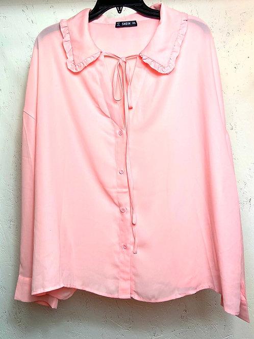 SHEIN pink ruffle