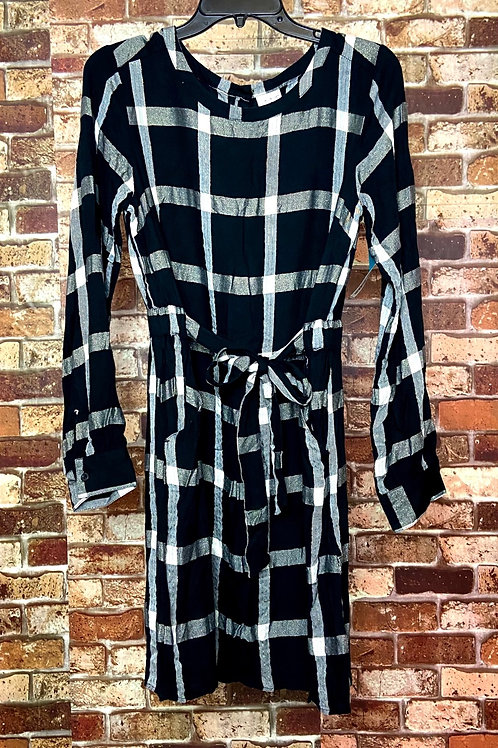 A new day black and white plaid with sparkle