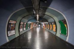 Nation, tunnel d'accés au RER A