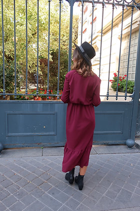 Robe Anais Bordeaux