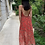 Thumbnail: Robe Line fleurs rouge