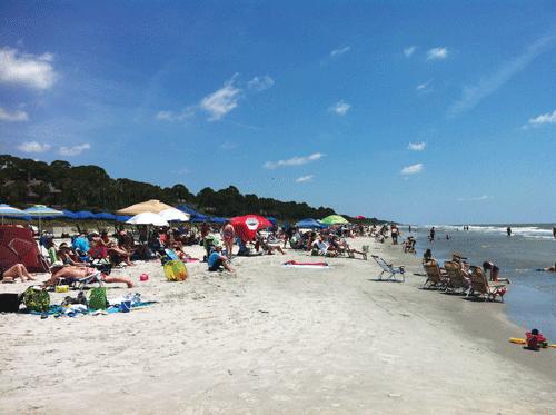 Beach in Sea Pines Plantation