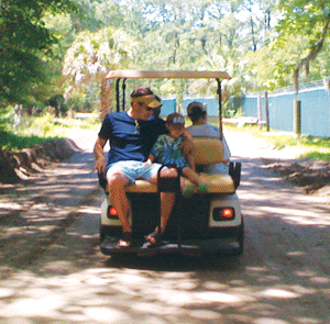 Daufuskie Island golf cart