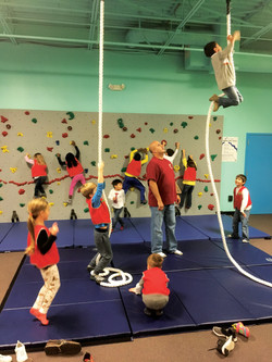 wall and rope climbing