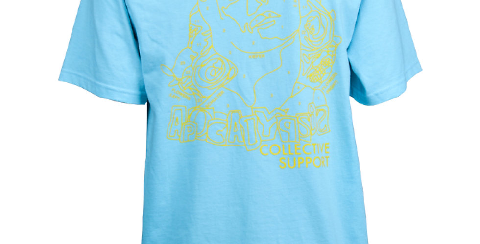 SUPPORT TEE SKY BLUE