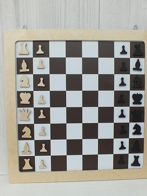 Настенная игра магнитная «Шашки + шахматы»