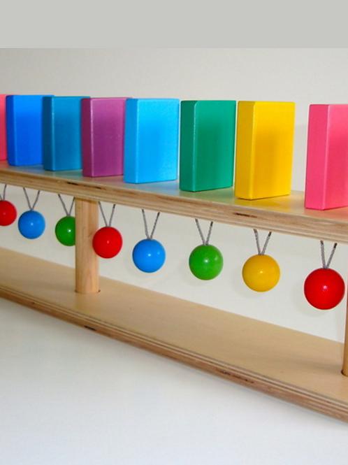 """Тактильно-развивающая панель """"Разноцветное домино"""""""