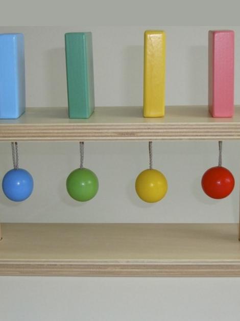 """Тактильно-развивающая панель """"Разноцветное домино"""" 6 шт"""