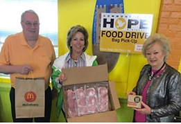 McDonald's donated millions of pounds of food that otherwise might have gone to waste.
