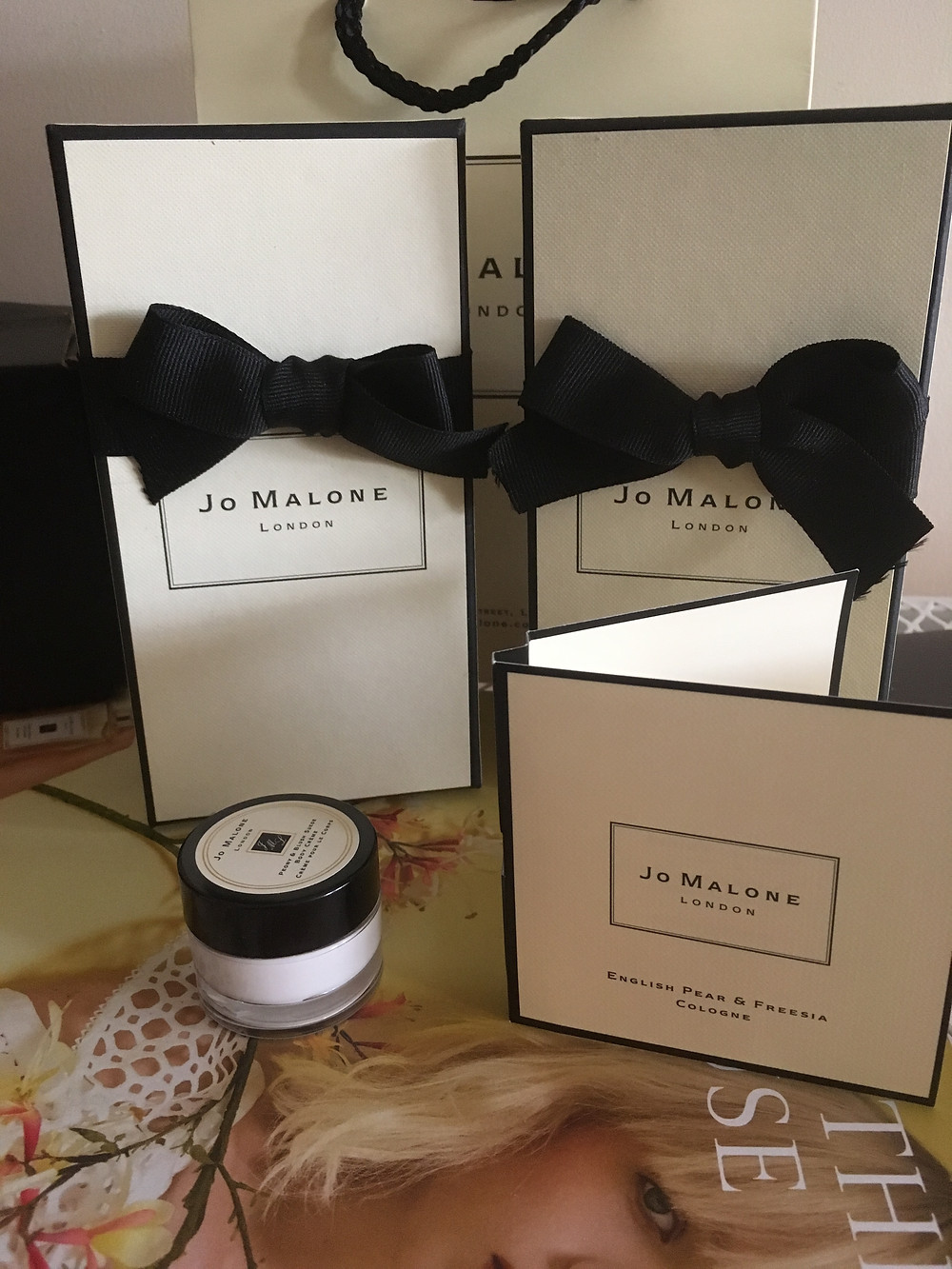 Jo Malone London samples and gifts.