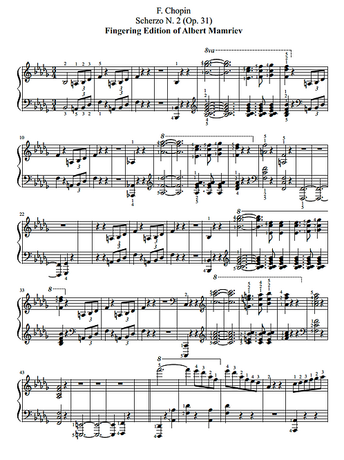 002. F. Chopin. Scherzo n.2