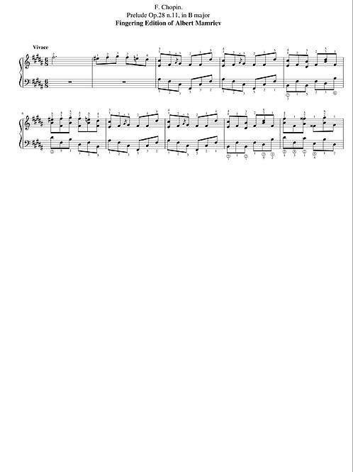 011. F. Chopin. Prelude Op.28 n.11