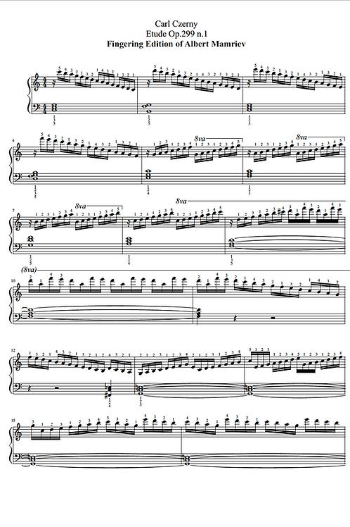 C. Czerny. Etude Op.299 n.1