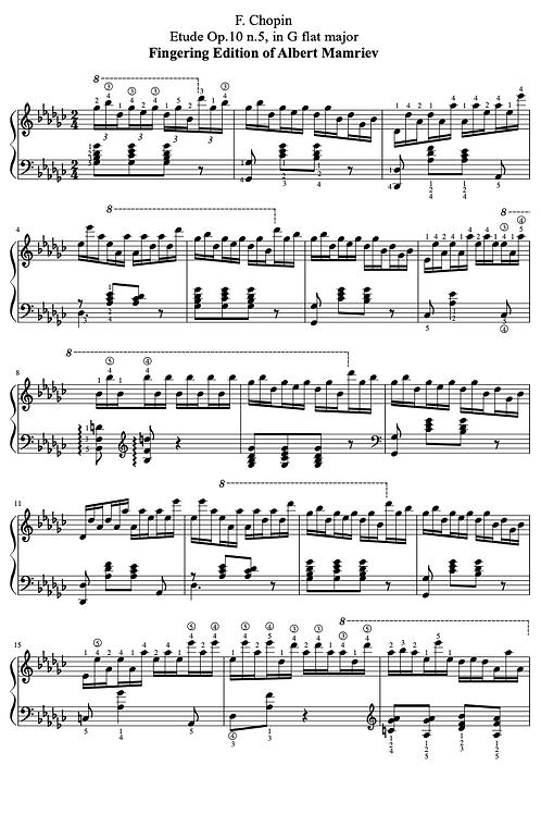 005. F. Chopin. Etude Op.10 n.5