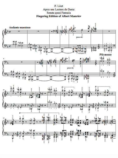 F. Liszt. Dante Sonata