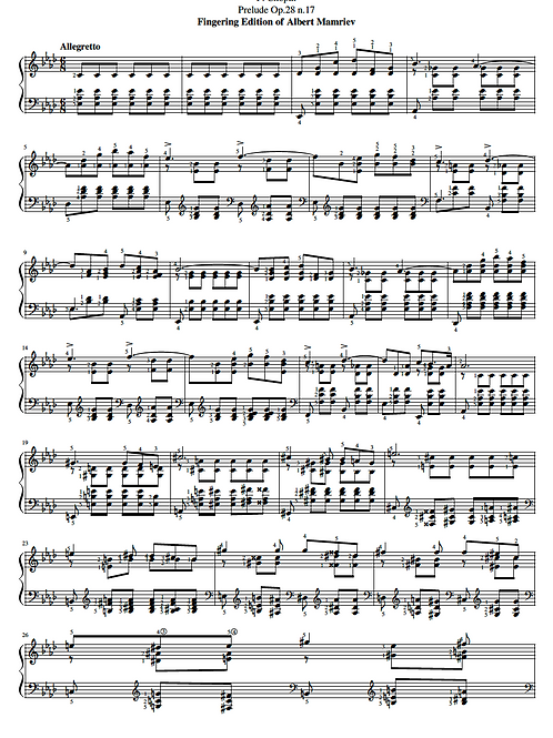 017. F. Chopin. Prelude Op.28 n.17