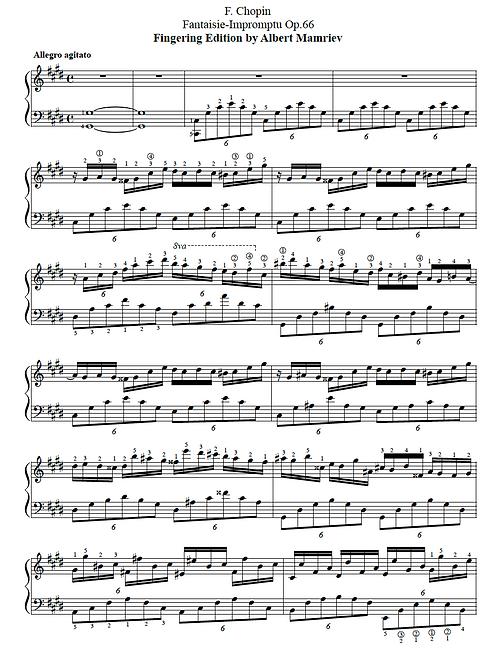 F. Chopin. Fantaisie-Impromtu Op.66