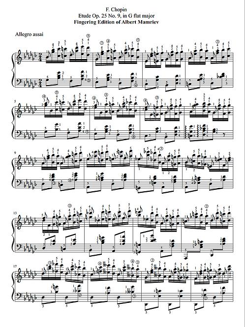 021. F. Chopin. Etude Op.25 N.9.