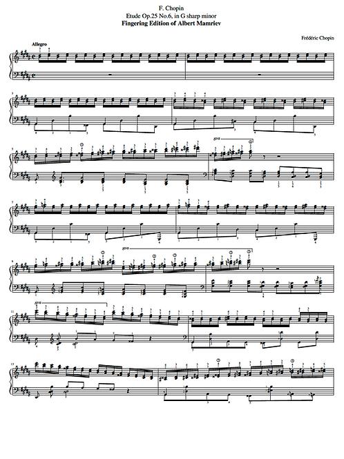 018. F. Chopin. Etude Op.25 n.6