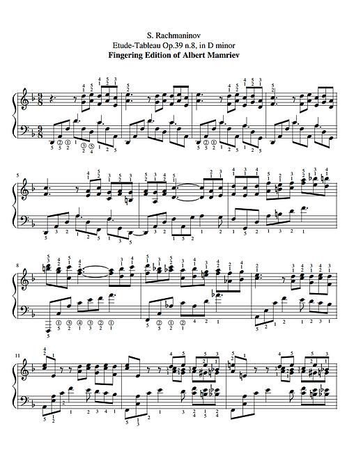 017. Rachmaninoff. Etude-Tableau Op.39 n.8