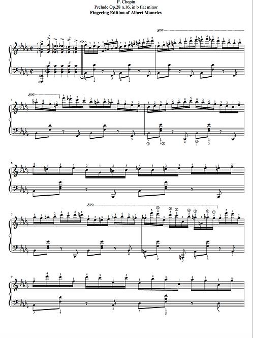 016. F. Chopin. Prelude Op.28 n.16