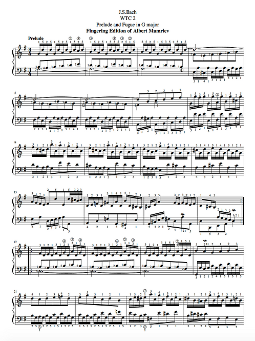 015. Bach. WTC 2-Prelude and Fugue n.15, in G major
