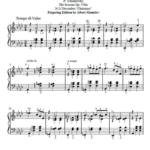 "P. I. Tchaikovsky. ""The Seasons"" - December"