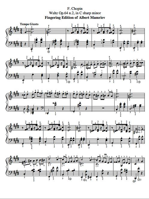 F. Chopin. Waltz Op.64 n.2