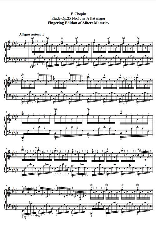 F. Chopin. Etudes op.25