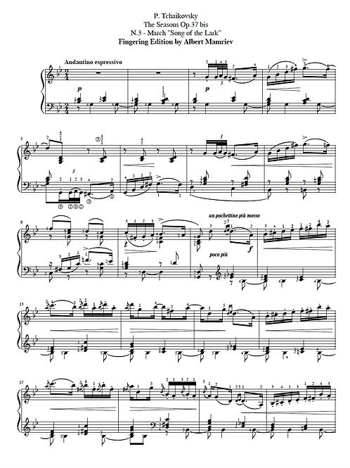 "P. I. Tchaikovsky. ""TheSeasons"" - March"