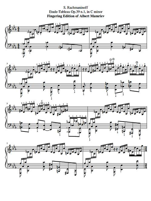 010. S. Rachmaninoff. Etude-Tableau Op.39 n.1