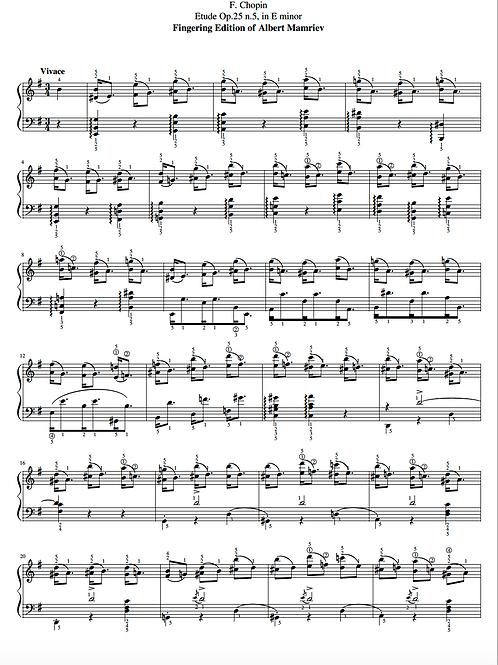 017. F. Chopin. Etude Op.25 n.5