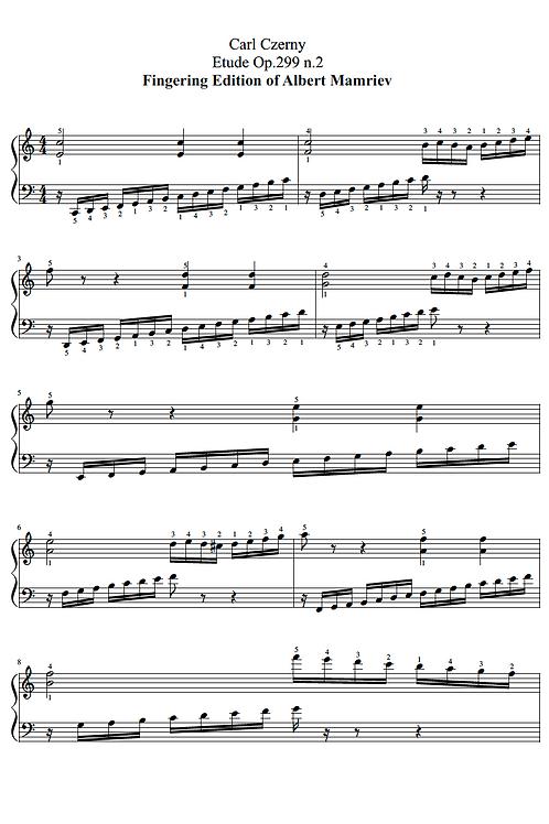 C. Czerny. Etude Op.299 n.2